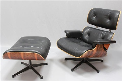 Sessel Nr. 670 Und Ottoman Nr. 671 By Charles And Ray Eames