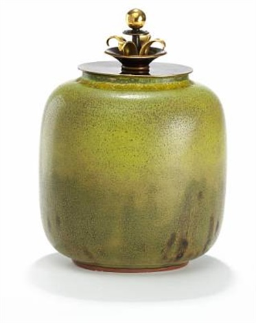 lidded vase by nils johan thorvald thorsson and knud andersen