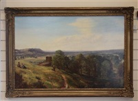 the edge hills from burton bassett by charles thomas burt