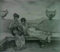harem women lounging by m. crandville