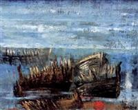südlicher strand mit alten booten by verone