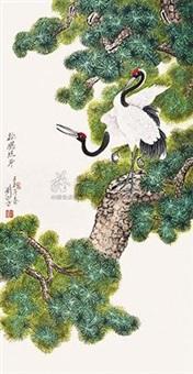 松鹤延年 by liu xigu