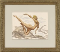 leaping nude by francis gruber