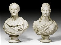 büste des sir thomas baring und seiner gattin lady mary ursula baring (pair) by adamo tadolini