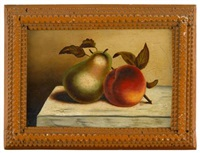 still life with apple and pear by robert street