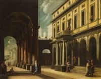 architectural perspective by viviano codazzi