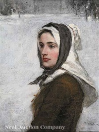 a puritan maiden by thomas hicks
