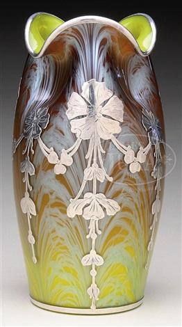Loetz Carrageen Silver Overlay Vase By Johann Ltz Witwe On Artnet