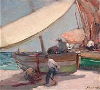barcas en la playa by alexandre de cabanyes
