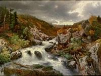 der wildbach aus dem bregenzer walde by adolf obermüllner