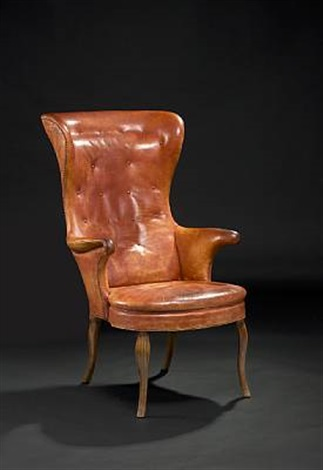 highback wing chair by frits henningsen