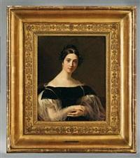 portrait d'amélie marcet-bouthillier de beaumont by firmin massot