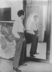 egon schiele mit seinem spiegelbild by johannes fischer