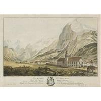 l'abaye d'engelberg dans le canton d'unterwalden dedié a monsieur l'abbé leodegar a engelberg seigneur et souverain des environs et de la principauté d'engelberg by matthias pfenninger