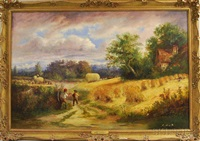 harvest time by john linnell