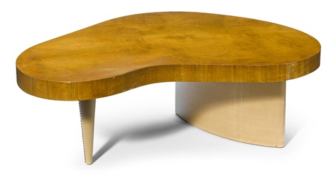 Biomorphic coffee table by Gilbert Rohde on artnet