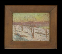 winter landscape with trees by hal robinson