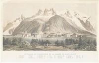 le village de chamounix et la chaine du mont-blanc by johann heinrich metzger