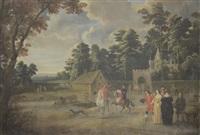 scène de village animé by flemish school (17)