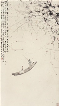 赤壁泛舟图 (boating at chibi) by fu baoshi