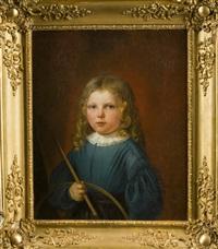 portrait eines kindes mit stab und ring by charles jean baptiste lelievre