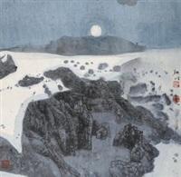 天堂月 镜片 设色纸本 by xiao yingchuan