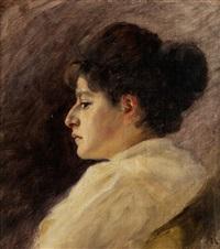 portrait einer dame by friedrich august von kaulbach