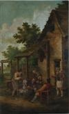 genre scene of figures drinking by continental school (19)