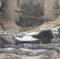 神鹰 镜片 设色纸本 by xiao yingchuan