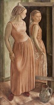 femme au miroir by albert locca