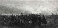 preußische truppen mit kaiser wilhelm i. by alois bach