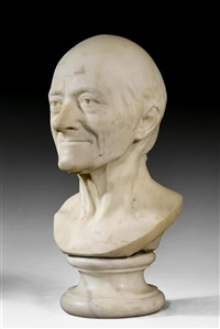 bust of the elderly voltaire by jean-antoine houdon