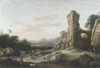 ideale italienische ruinenlandschaft by pieter anthonisz van groenewegen