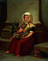 kleine blumenverkäuferin by karl friedrich boser