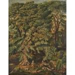 gentleman with dog in wooded landscape by american school (19)