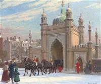 the north gate of the royal pavillion, brighton by conrad leigh