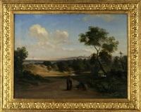 grosse landschaft mit figurenstaffage by georg heinrich crola