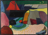 ile d'ouessant - port d'harant by andre alexeyevich jawlensky
