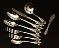 flatware service in grand baroque pattern (set of 36) by r. wallace & sons (co.)