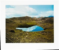 landscape with a lake, iceland by olafur eliasson
