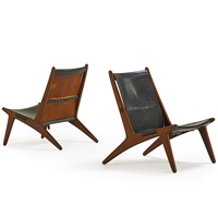 hunting chairs (no. 204) (pair) by uno and östen kristiansson