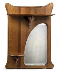 wandkonsole mit spiegel by georges bourgeot