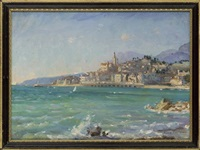 the italian speronare (+ off the italian coast; pair) by alice maud fanner
