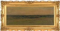 tonalist landscape, possibly from the top of sunset hill in hyannis port, massachusetts, looking north by arthur hoeber