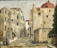street scene by alphonse léon quizet