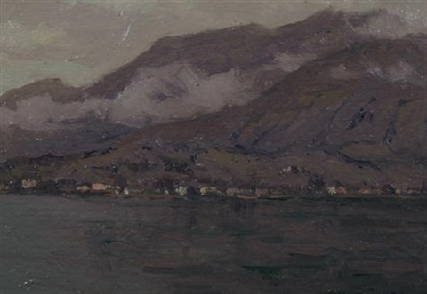 view of lake como italy by charles warren eaton