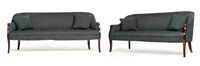 sofas (pair) by ward bennett