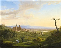 oppenheim near the river rhine by johann theodor goldstein