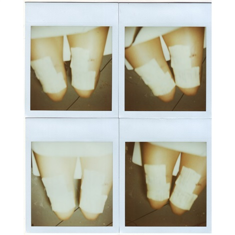 into pieces polaroids self portrait 4 works mntd framed together by roberta lima
