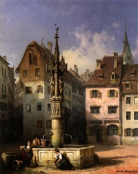 der fischmarktbrunnen in basel by michael neher